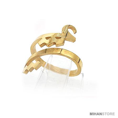 انگشتر طلایی و نقره ای طرح عشق