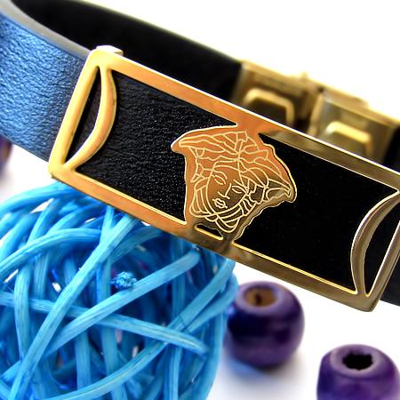 دستبند چرم طرح ورساچه Versace