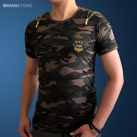 تیشرت ارتشی مردانه زیپر Zipper