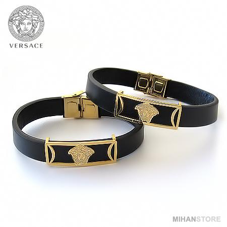 دستبند چرم طرح Versace