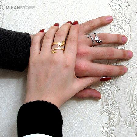 انگشتر مارپیچی طرح عشق