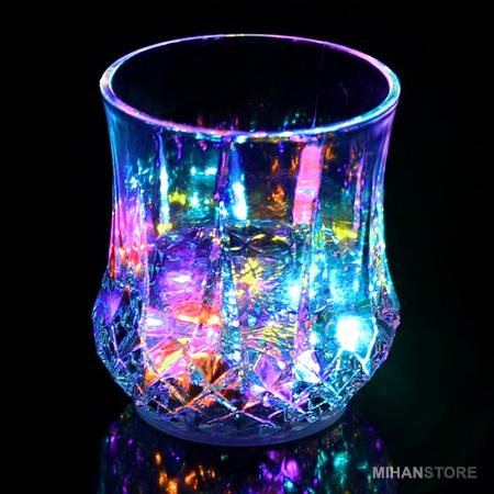 لیوان جادویی رنگین کمان نورانی LED