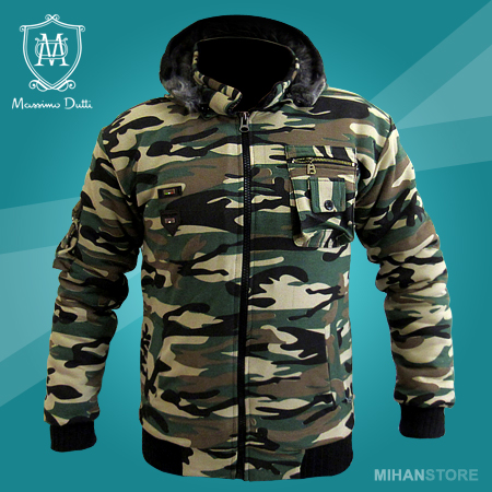 کاپشن مردانه ارتشی Massimo Dutti